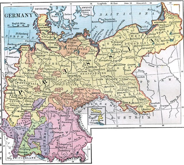 The Unified German State in 1872