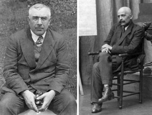 Left, P.D. Ouspensky; right, G.I. Gurdjieff