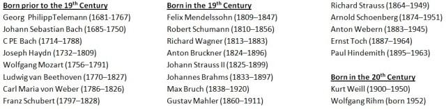 German-Austrian composers